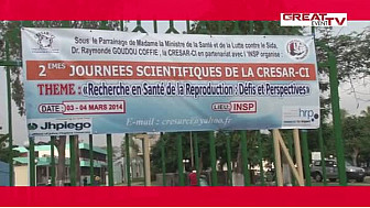2è JOURNÉES SCIENTIFIQUES DE LA CRESAR-CI :  LA SANTÉ DE LA REPRODUCTION AU COEUR DES DÉBATS