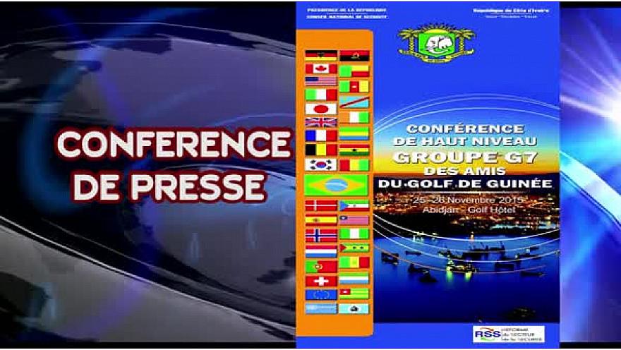 Réunion du groupe G7 des Amis du Golfe de Guinée: Conférence de presse